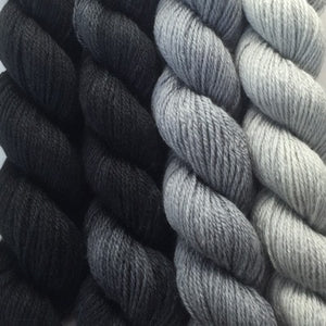 Paradise Fibers Yarn Artyarns Merino Cloud Gradient Kit Black and Grey - 9