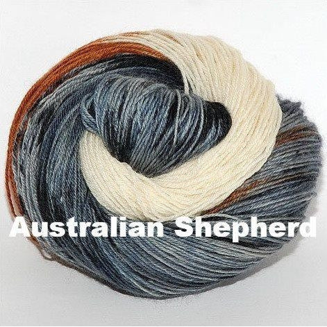 Paradise Fibers Yarn Ancient Arts DK Yarn - Woof Collection Australian Shepherd - 4