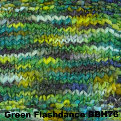 Misti Alpaca Baby Me Boo Hand Painted Yarn Green Flashdance BBH76 - 26