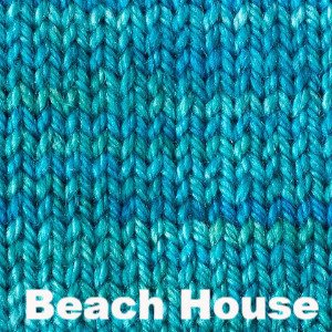 Paradise Fibers Yarn Sweet Georgia Tough Love Sock - Semi Solids Beach House - 6