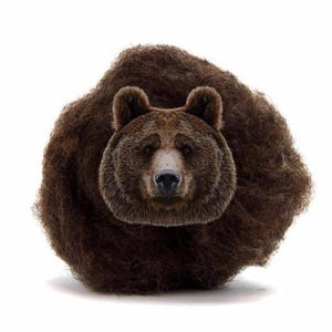 Paradise Fibers Carded Corriedale Wool Sliver - Woodland Creatures-Fiber-Bear-4oz-