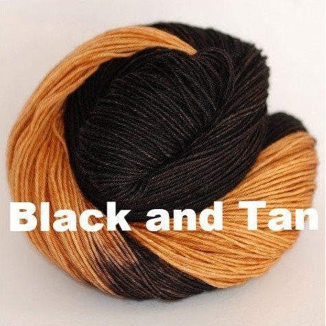 Paradise Fibers Yarn Ancient Arts DK Yarn - Woof Collection Black and Tan - 5