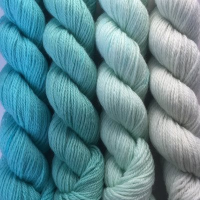 Paradise Fibers Yarn Artyarns Merino Cloud Gradient Kit Blues - 3