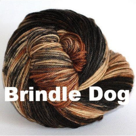 Paradise Fibers Yarn Ancient Arts DK Yarn - Woof Collection Brindle Dog - 7