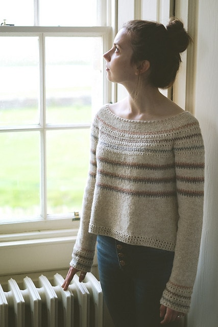 Burrafirth Sweater Pattern by The Shetland Trader  - 1