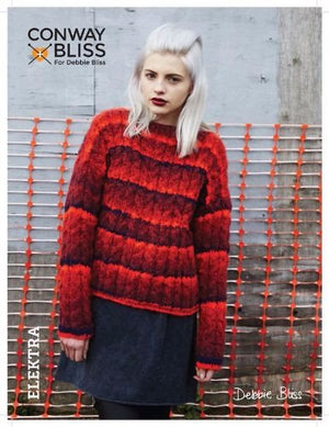 Conway + Bliss for Debbie Bliss Elektra Cable Sweater Pattern-Patterns-