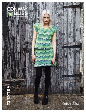 Conway + Bliss for Debbie Bliss Chevron Top & Skirt Pattern-Patterns-