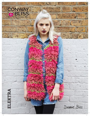 Conway + Bliss for Debbie Bliss Elektra Loop Stitch Gilet Pattern-Patterns-