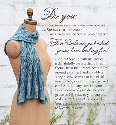 Curls - Versatile, Wearable Wraps to Knit at Any Gauge Book  - 3