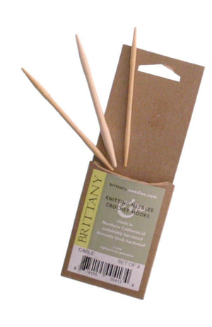 Brittany Birch Cable Needles set of 3-Knitting Needles-