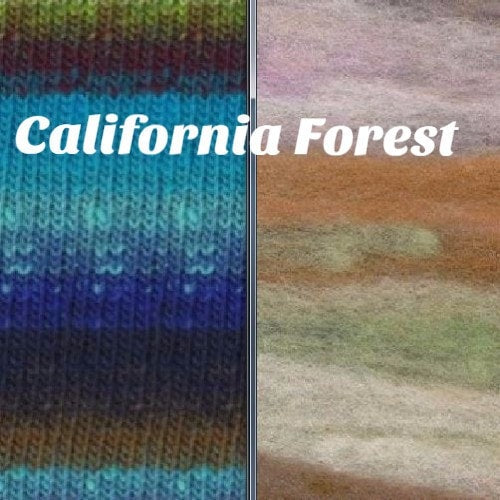 Noro Rainbow Roll Scarf Kit California Forest - 4
