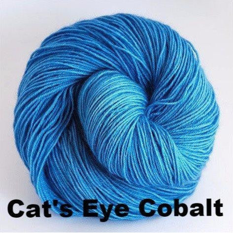 Paradise Fibers Yarn Ancient Arts DK Yarn - Meow Collection Cat's Eye Cobalt - 6