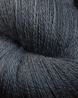 Jagger Spun Zephyr Wool-Silk Natural Yarn - Lace Weight 2/18-Yarn-100g Skein-Charcoal-