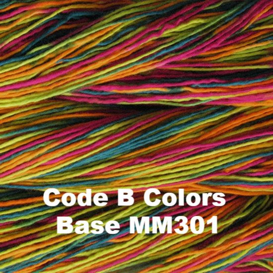 Malabrigo Worsted Yarn Variegated Code B Colors Base MM301 - 42