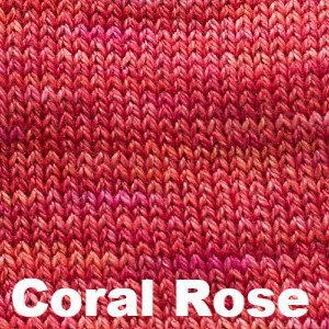Paradise Fibers Yarn Sweet Georgia Tough Love Sock - Semi Solids Coral Rose - 17