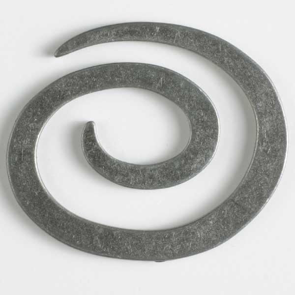 Dill Button Full Metal Spiral Closure - Antique Tin 50mm 480908