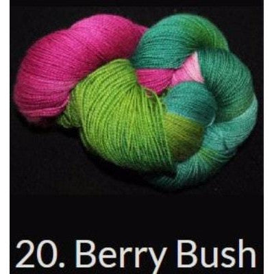 Done Roving DK Frolicking Feet Yarn Berry Bush 20 - 3