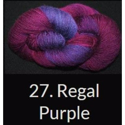Done Roving DK Frolicking Feet Yarn Regal Purple 27 - 9