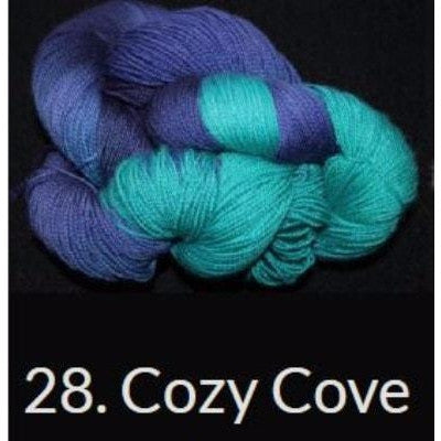 Done Roving DK Frolicking Feet Yarn Cozy Cove 28 - 10