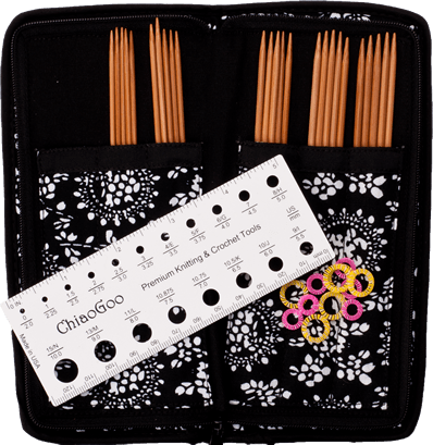 Bamboo Double Point Sock Needle Set - by ChiaoGoo  - 2