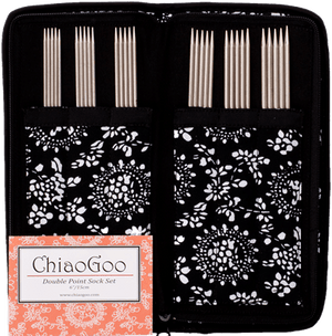 Stainless Steel Double Point Sock Needle Set - by ChiaoGoo-Knitting Needles-