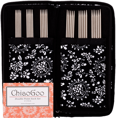 Stainless Steel Double Point Sock Needle Set - by ChiaoGoo  - 2