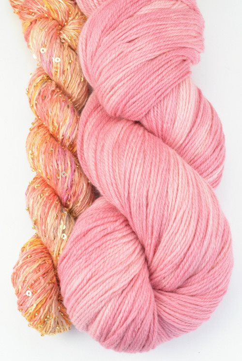 Artyarns Lazy Days Shawl Kit Pink - 8