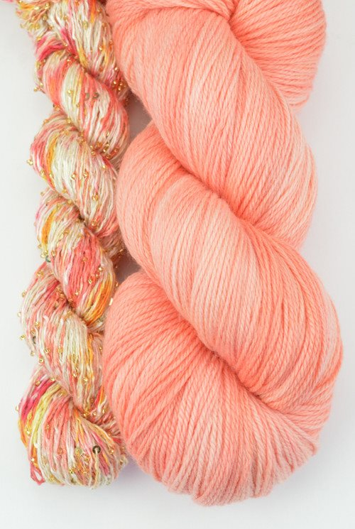 Artyarns Lazy Days Shawl Kit Peach - 10