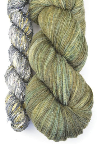 Artyarns Lazy Days Shawl Kit Olive - 6