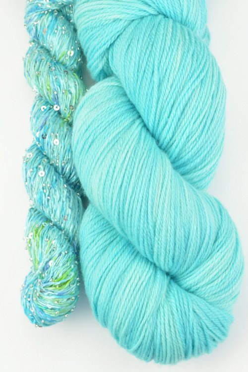 Artyarns Lazy Days Shawl Kit Blue - 4