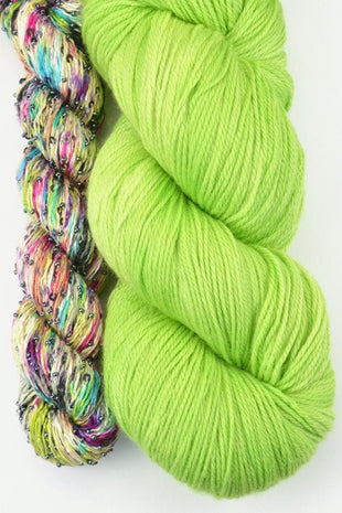 Artyarns Lazy Days Shawl Kit Green - 9