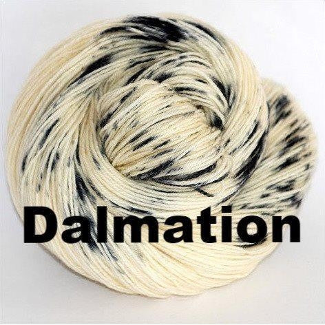 Paradise Fibers Yarn Ancient Arts DK Yarn - Woof Collection Dalmation - 9