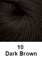 Cascade Longwood Yarn Dark Brown 10 - 6
