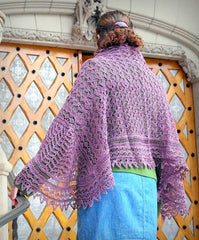 Little NutMeg Deepening Twilight Shawl Pattern  - 2