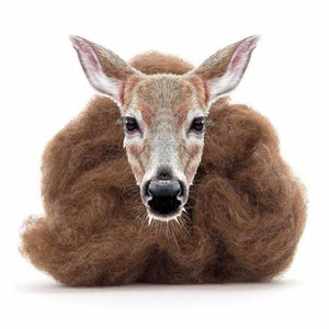 Paradise Fibers Carded Corriedale Wool Sliver - Woodland Creatures-Fiber-Deer-4oz-