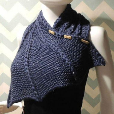 Dragon Wing Cowl Knit Pattern-Patterns-Paradise Fibers