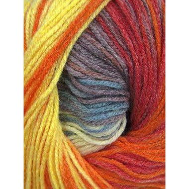 Paradise Fibers Euro Baby Babe Stripes - Orange, Yellow, Grey, Red