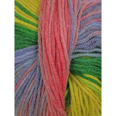 Paradise Fibers Euro Baby Babe Stripes - Yellow, Green, Pink