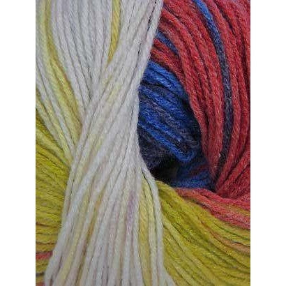 Paradise Fibers Euro Baby Babe Stripes - Blue, Red, Orange, Ecru