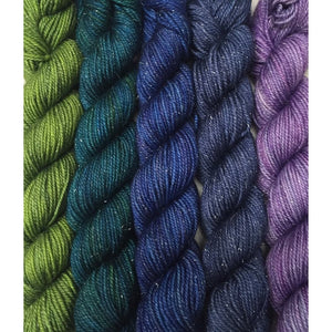 Sweet Georgia Yarns *LIMITED EDITION* Party of Five Mini-Skein Sets-Yarn-CashLuxe Spark-English Bay-