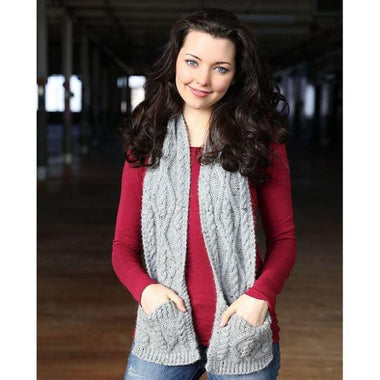 Plymouth Cabled Pocket Scarf Kit