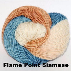 Paradise Fibers Yarn Ancient Arts DK Yarn - Meow Collection Flame Point Siamese - 8