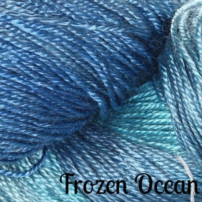 Hand Maiden Fine Yarns - Sea Silk Frozen Ocean - 3
