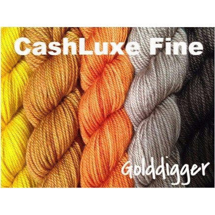 Sweet Georgia Yarns *LIMITED EDITION* Party of Five Mini-Skein Sets CashLuxe Fine / Golddigger - 1