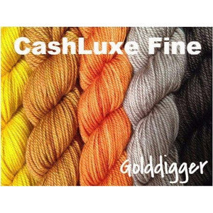 Sweet Georgia Yarns *LIMITED EDITION* Party of Five Mini-Skein Sets-Yarn-CashLuxe Fine-Golddigger-