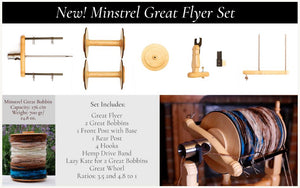 Kromski Minstrel Great Flyer Set-Spinning Wheel Accessory-Paradise Fibers