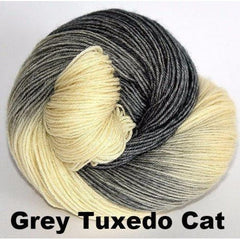 Paradise Fibers Yarn Ancient Arts DK Yarn - Meow Collection Grey Tuxedo Cat - 10