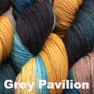 Sweet Georgia Tough Love Sock - Variegated Grey Pavilion - 9