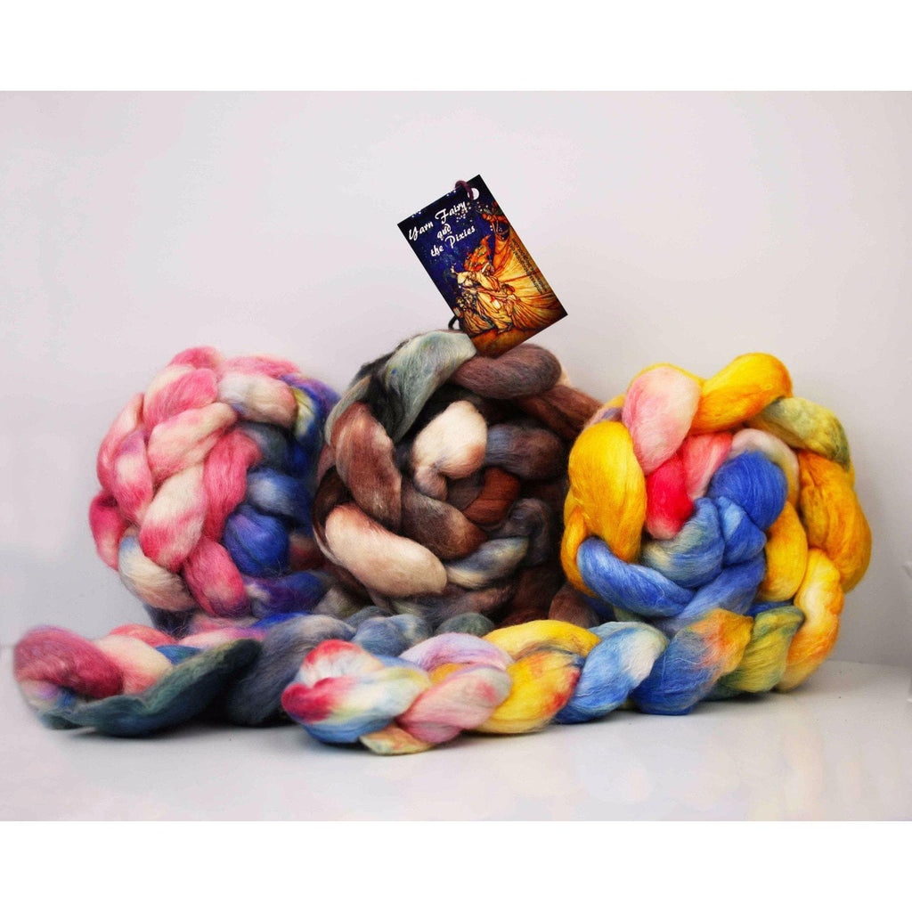 Paradise Fibers Special Yarn Fairy Hand Painted Rovings (4 oz braids)  - 1