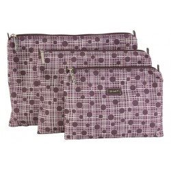 Hadaki Zip Carry-All Pod (3 Sizes)-Project Bag-Small-Plum Perfect Plaid-